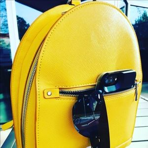 Zara Yellow Backpack